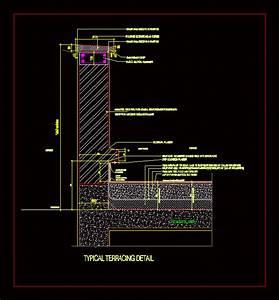terrace detail dwg detail for autocad designs cad