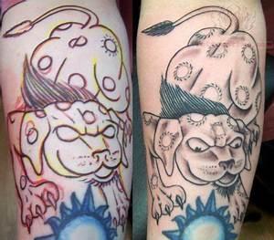 Outline Foo Dog Tattoo