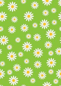 Daisy Flowers Wallpaper Pattern Free Stock Photo - Public ...