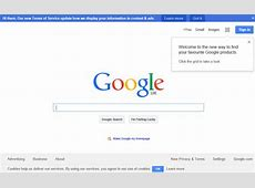 A Cluttered Google Homepage
