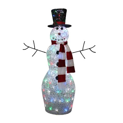 outdoor lighted snowman 4 ft multicolor twinkling lighted snowman outdoor