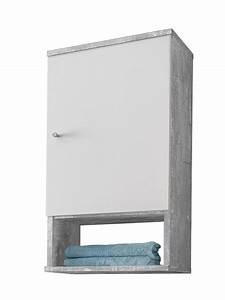 Badschrank 35 Cm Breit : badezimmer h ngeschrank lindau badschrank badezimmerschrank weiss beton grau 4250808604016 ebay ~ Bigdaddyawards.com Haus und Dekorationen