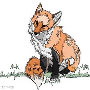Abstract Fox Drawing
