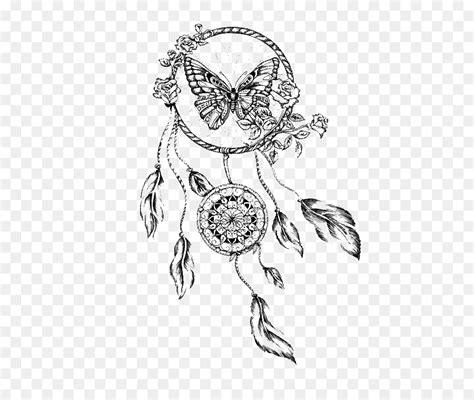 dreamcatcher drawing butterfly tattoo dreamcatcher png