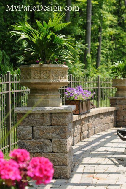 Patio Arrangements by Seating Walls Make A Ledge For Flower Arrangements