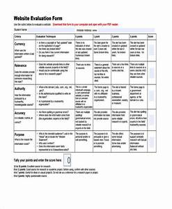 7 website evaluation form samples free sample example With site evaluation template