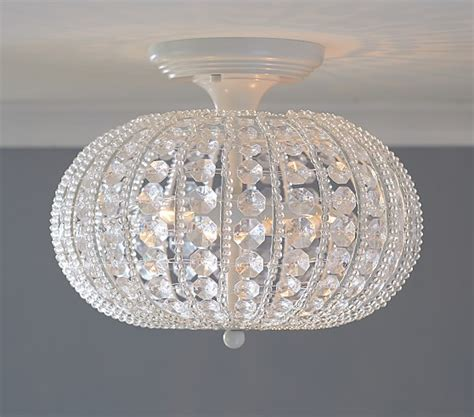 Pottery Barn Bedroom Ceiling Lights by Clear Acrylic Flushmount Chandelier Pottery Barn