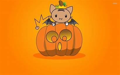 Halloween Pumpkin Bat Wallpapers Kawaii Pastel Bats
