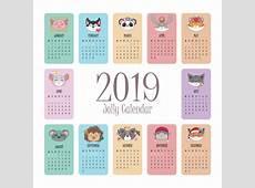 Calendario 2019 con caras alegres de animales Descargar