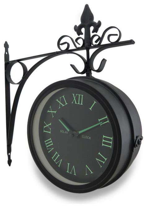 Double Sided Glow in the Dark Wall Clock w/Decorative