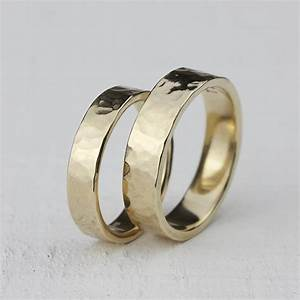 gold hammered wedding ring set 14k gold hammered wedding ring With hammered wedding rings