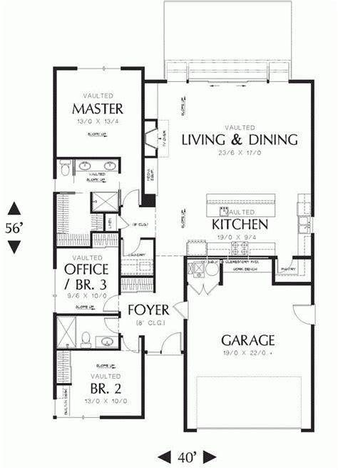 moderna  sencilla casa de una planta tres dormitorios