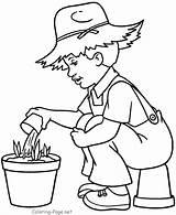 Coloring Farmer Spring Boy Colouring Bojanke Jobs Printemps Saison Junge Nature Sheets Elisaveta Proleće Drawing Coloriage Prolece Miki Za Granjero sketch template