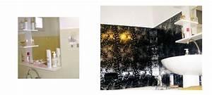 carrelage adhesif metal decor pour refaire sa salle de bain With carrelage adhesif salle de bain avec deco led noel exterieur
