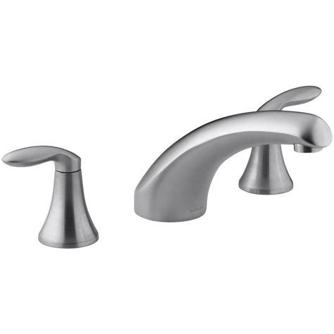 kohler coralais faucet kohler coralais tub faucet trim only in brushed chrome k