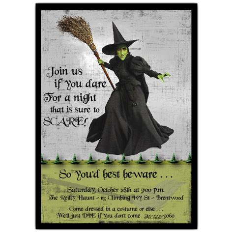 halloween wicked witch invitations paperstyle