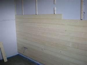 Pose Lambris Horizontal Commencer Haut : chambre en lambris bois merignac devis maison neuve en ~ Premium-room.com Idées de Décoration