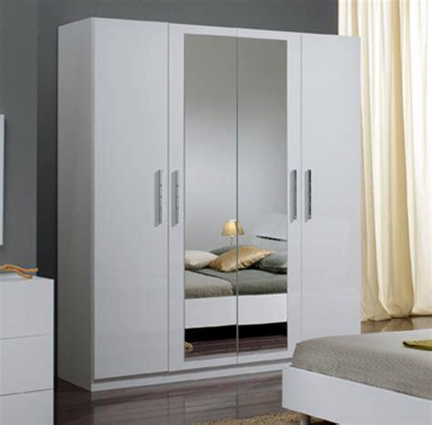 armoire 4 portes gloria blanc