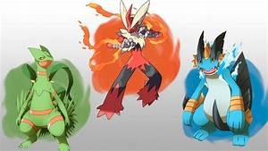 Mega Sceptile, Mega Blaziken e Mega Swampert in Pokémon Rubino Omega e Zaffiro Alpha ...  Pokemon