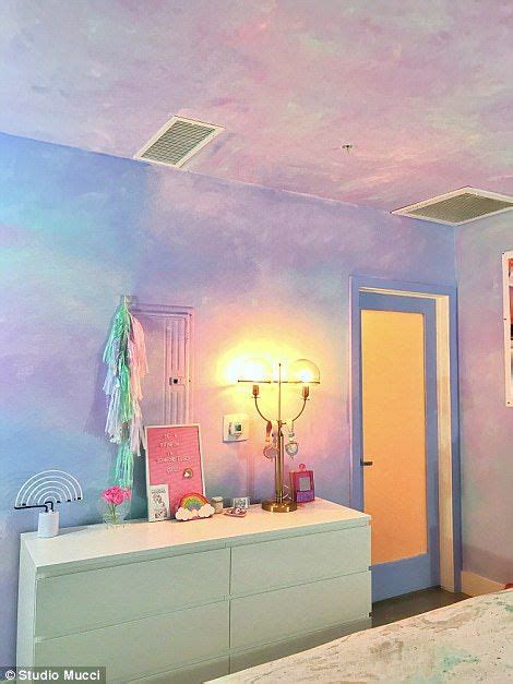 Lovely Pastel Wall Mural Design Ideas by This Rainbow Apartment Is The Stuff Of Unicorn Dreams