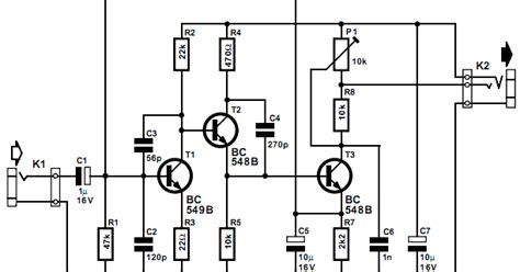 Preamplifier For Soundcard Circuits Projects