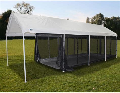 King Canopy 10 X 20 Ft. Black Canopy Screen Room With