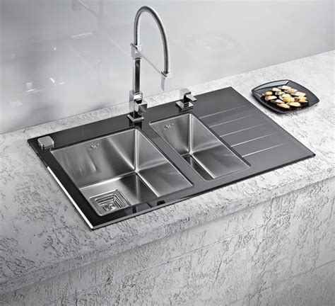 white glass kitchen sink alveus crystalix 20 inset sink glass stainless steel olif 1310