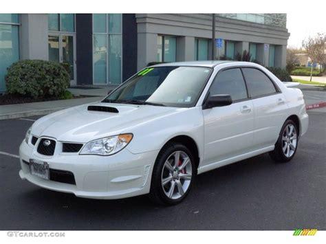 white subaru wrx satin white pearl 2007 subaru impreza wrx sedan exterior