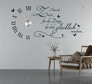 Wandtattoo Für Wohnzimmer : wanduhr wandtattoo uhr wohnzimmer wandsticker wandaufkleber spruch uhrwerk tku5 ebay ~ Buech-reservation.com Haus und Dekorationen
