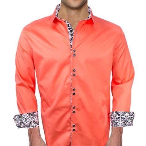 mens designer dress shirts coral mens dress shirts