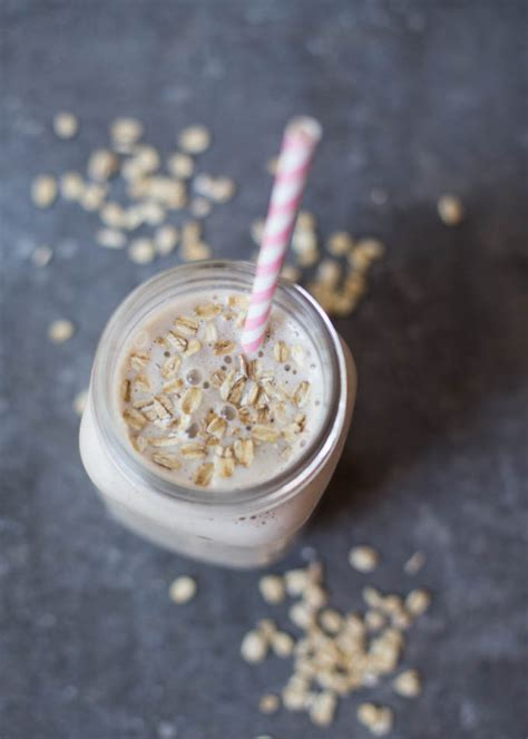 Oatmeal Peanut Butter Protein Shake + Stability Ball