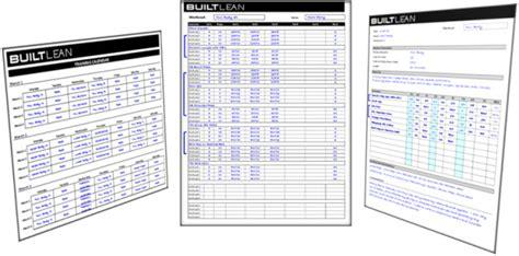 workout log template  printable easy