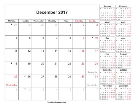 december 2017 printable calendar calendar 2018 december 2017 calendar with holidays 2018 calendar printable dece