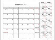 December 2017 Calendar With Holidays 2018 calendar printable