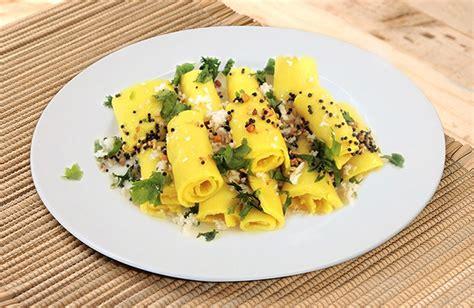 indian cuisine starters khandvi recipe jain rasoi