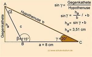 Trigonometrie Höhe Berechnen : sinussatz bungen mit schritt f r schritt l sungen und beweis ~ Themetempest.com Abrechnung