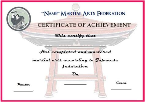 Martial Certificate Templates Free by Martial Arts Award Certificates 20 Different Templates