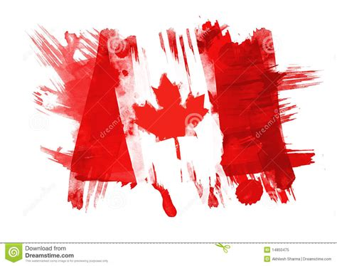canada flag painted royalty free stock 14850475