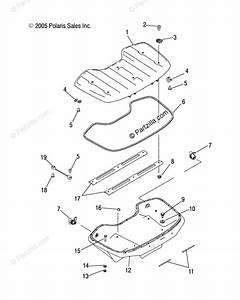Polaris Atv 2004 Oem Parts Diagram For Front Storage Box
