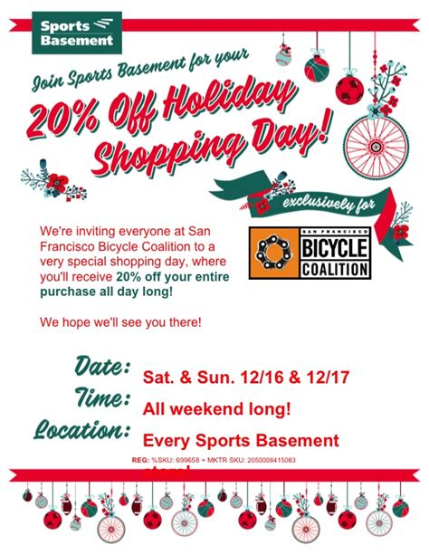 Sports Basement Discount Days Just For You  San Francisco