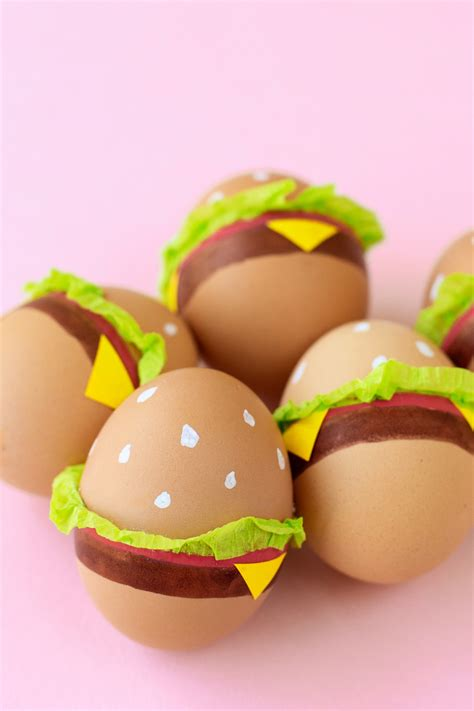 Oster Eierbecher Basteln by Diy Burger Easter Eggs Studio Diy