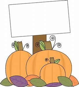 Pumpkin with a Blank Sign Clip Art - Pumpkin with a Blank ...