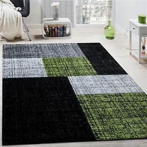 Teppich Grau Grün : designer teppich modern kurzflor karos und rechtecke ~ Whattoseeinmadrid.com Haus und Dekorationen