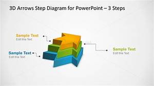 3d Arrows Step Diagram Slide With 3 Steps For Powerpoint