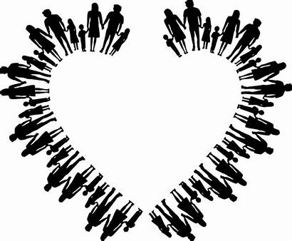 Silhouette Heart Clipart Child Nuclear Families Hands