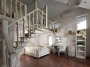 Bedroom, Mezzanine, House in Dnepropetrovsk, Ukraine by