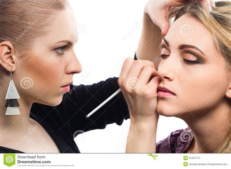 professional makeup artist make up artist royalty free stock photography image