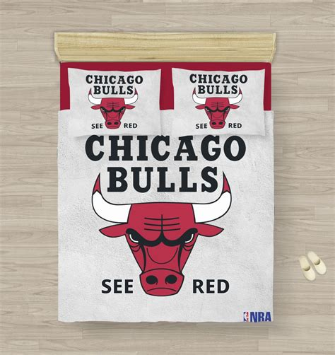Buy Nba Chicago Bulls Bedding Comforter Set  50% Off