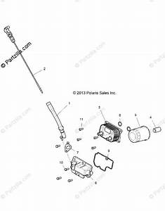 Polaris Side By Side 2018 Oem Parts Diagram For Engine  Dipstick And Oil Filter
