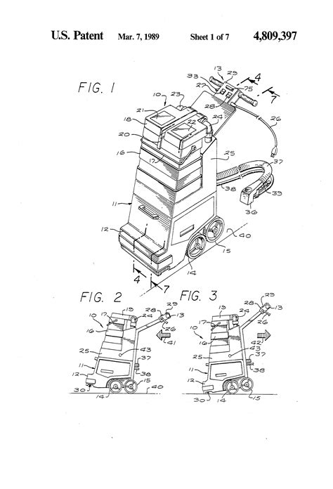 rug doctor parts patent us4809397 rug and carpet cleaner patents